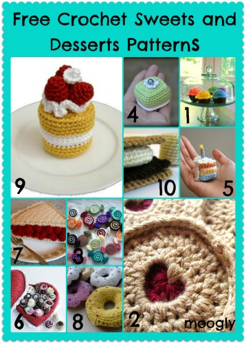 Free Amigurumi Patterns - Crochet Sweets and Desserts!