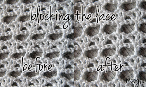 Blocking the Summer Lace Cowl - it makes a difference!