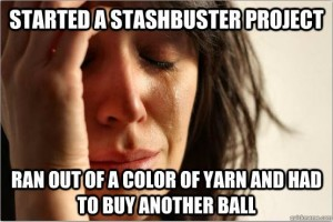 Don't cry! The yarn is on sale!