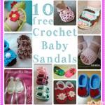 Crochet Baby Sandals: 10 Free Patterns!