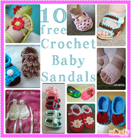 Crochet Baby Sandals 60 Free Patterns On Moogly Best Crochet Baby Sandals Pattern