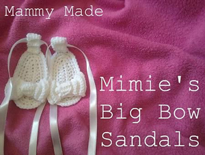 Mimie's Big Bow Sandals - free crochet baby sandals pattern!