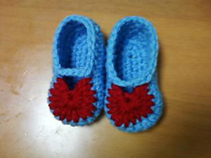My First Baby Sandals - free crochet pattern