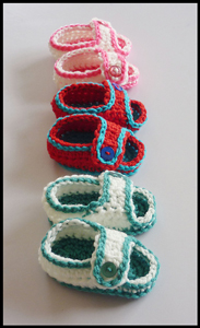 Simple Sandals - free crochet baby sandals pattern