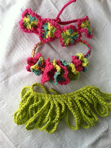 Hula Baby - Crochet Photo Props