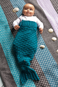 Mermaid Tail - Baby Crochet Photo Props