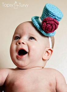 Newborn Top Hat - Crochet Photo Props
