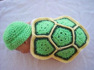 Turtle Love - Crochet Photo Prop