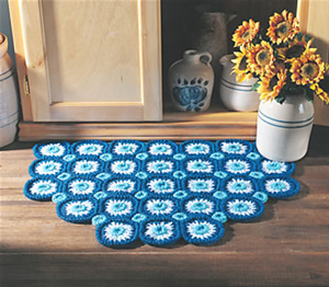 Bachelor's Button Rug - free crochet rug patterns