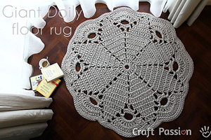 Giant Doily Rug - free crochet rug patterns