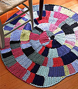 Shaker-Inspired Rug  - free crochet rug patterns