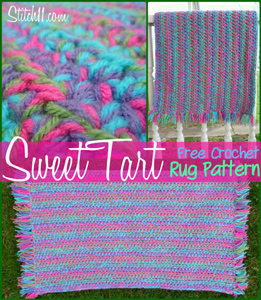 Sweet Tart Rug Pattern  - free crochet rug patterns
