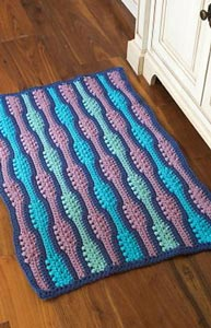 Textured Wave Rug  - free crochet rug patterns