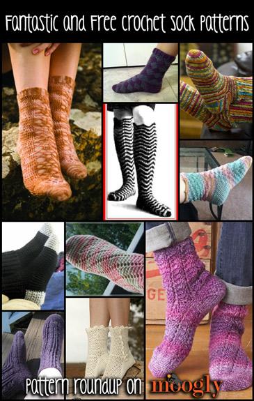 10 Free And Fantastic Crochet Sock Patterns Moogly