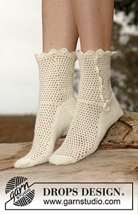 Lisbeth Socks - Free crochet sock pattern