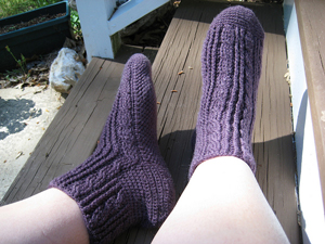 Twist and Shout  - Free crochet sock pattern