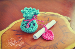 Bag of Hugs - Crochet Wedding Favor