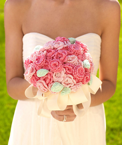 Bridal Nosegay - free wedding crochet patterns