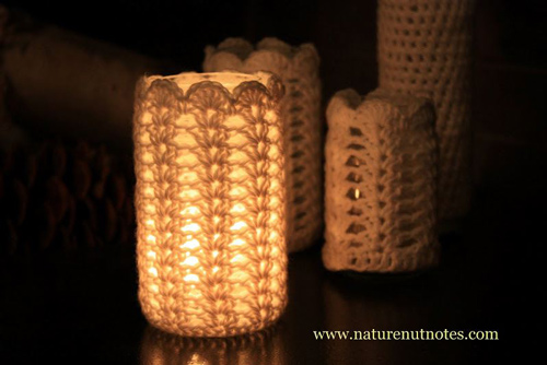 Crochet Votive Cover - free crochet pattern for your wedding!