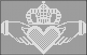 Medium Claddagh Chart - free wedding crochet pattern