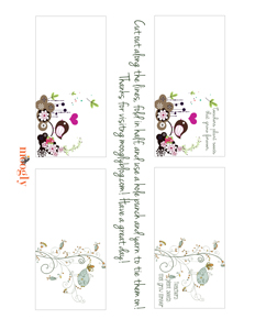 Printable Card for the Flower Pot Cozy - Preview