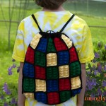 Lego Inspired Crochet Backpack