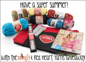 Moogly & Red Heart Yarns Super Summer Giveaway! Win $100 worth of yarn and products from Red Heart!