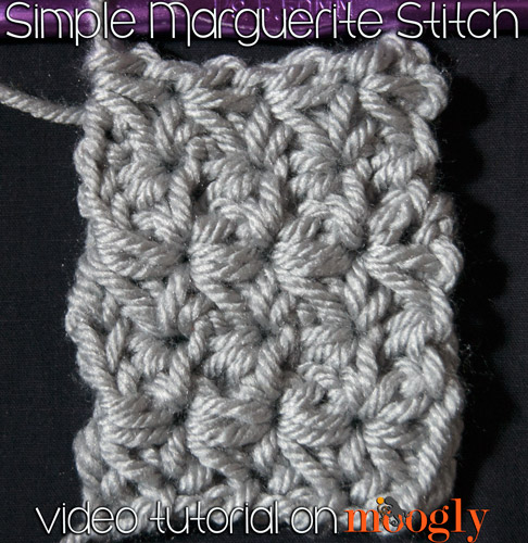 The Simple Marguerite Stitch - video tutorial, chart, and written instructions on moogly!