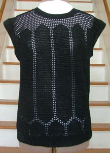 Black Openwork Summer Top - Crochet Summer Tops for Women