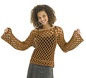 Crochet Bronze Beauty Top  - Crochet Summer Tops for Women
