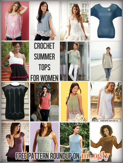 Crochet Summer Tops for Women of All Sizes: 15 Free ...