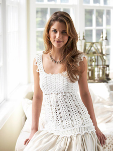 Lace-Inspired Crocheted Top  - Crochet Summer Tops for Women