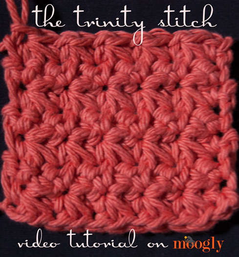 Crochet Stitches Video : How to Crochet the Trinity Stitch - video tutorial, written ...