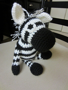 Amigurumi Zebra Toy - free zebra crochet pattern