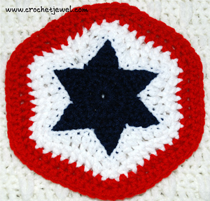 Crochet 4th of July Star Potholder - free 4th of July crochet patterns