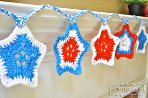 Crochet Start Spangled Banner - free 4th of July crochet patterns
