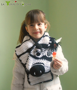 Crochet Zebra Scarf - free zebra crochet pattern