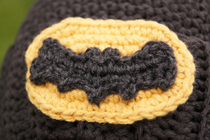 Crocheted Batman Logo - free crochet applique pattern