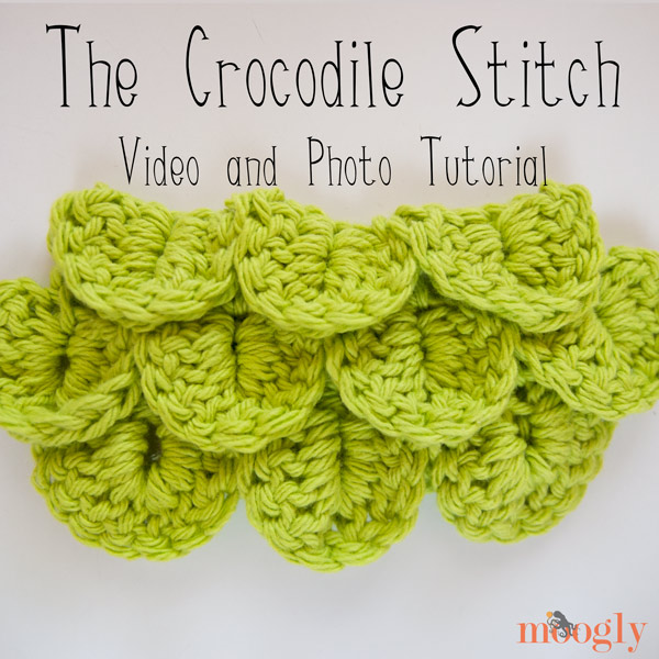 Crochet Crocodile Stitch : Learn how to crochet the Crocodile Stitch! Video and photo tutorial on ...