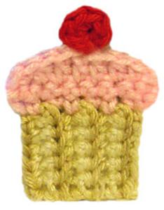Cupcake Applique - Free Cupcake Crochet Pattern!