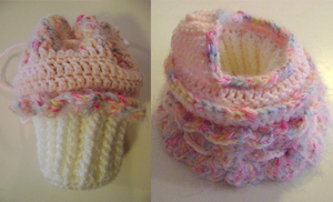 Cupcake Cradle Purse - Free Cupcake Crochet Pattern!