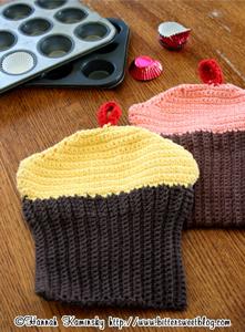 Cupcake Potholders - Free Cupcake Crochet Pattern!