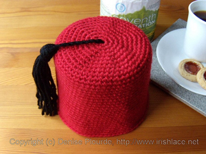 Fez Toilet Paper Cosy - Doctor Who Crochet Pattern!