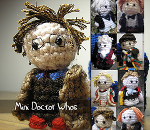 Mini Doctor Whos - Doctor Who Crochet Patterns for themall! Free!