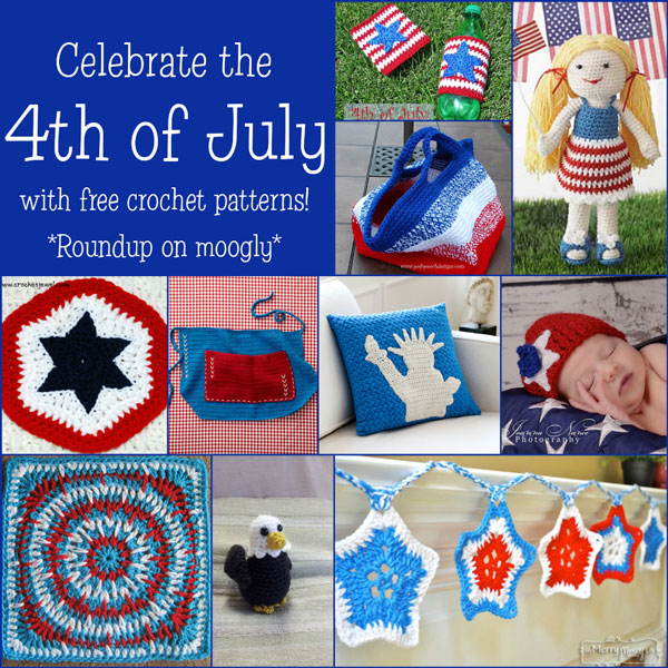 Free 4th of July Crochet Patterns - Roundup on mooglyblog.com!