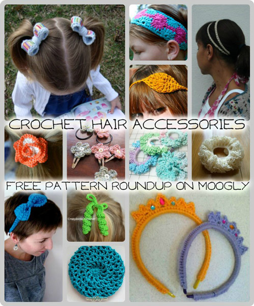 Crochet Hair Accessories Video : Crochet Hair Accessories - Perfect for summer! 12 free patterns in