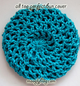 All Too Perfect Bun Cover - Crochet Hair Accessories, free pattern!