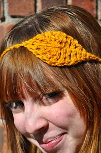 Crochet Leaf Headband - crochet hair accessories, free pattern!