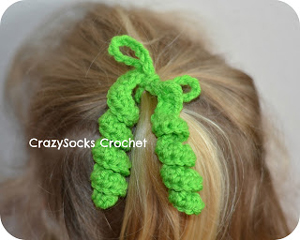 Hair Spirals - crochet hair accessories, free pattern!