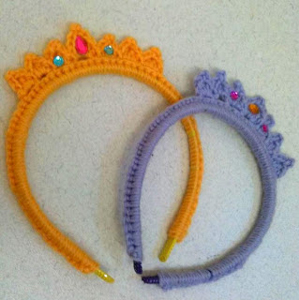 Tiara Headband - crochet hair accessories, free pattern!